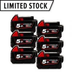 MILWAUKEE 18V 6 x 5.0Ah Battery Pack M18B56