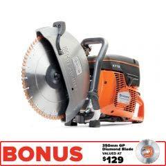 HUSQVARNA 350mm 74cc Power Cut Demolition Saw 967682101