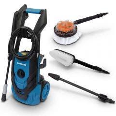 SABER 1900Psi Pressure Washer Kit w Turbo Nozzle & Brushers