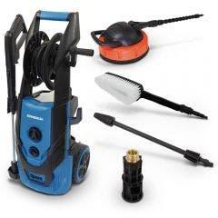 SABER 2300Psi Pressure Washer Kit w Turbo Nozzle & Coupler Brushers