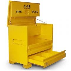 1-11 Yellow Fully Welded Site Box with Lockable Pull Out Drawer SITEBOSS