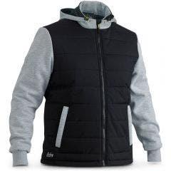 BISLEY Flex & Move Puffer Fleece Hoodie Black BJ6944BBLK