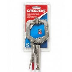 "CRESCENT 150MM/6"" Locking C-Clamp With Swivel Pads C6CCSVN"