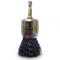 JOSCO 30mm 1/4-Hex Mounted Crimped End Brush JEC30