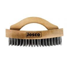 JOSCO Arched Wooden D-Handle Hand Wire Brush BSCH410