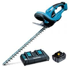 MAKITA 18V 520mm 1X5.0Ah Dual Rapid Charger Hedge Trimmer Kit DUH523PT