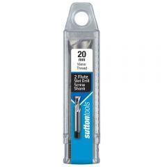 SUTTON 20.0mm 2-Flute HSS-Cobalt Slot Drill