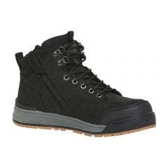 HARD YAKKA Size 12 3056 Black Lace Zip Boot Y60201BLA12