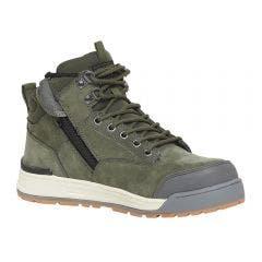 HARD YAKKA Size 11 3056 Olive Lace Zip Boot Y60203OLI11