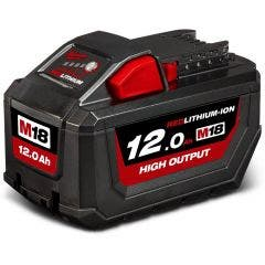 MILWAUKEE 18V Battery 12.0Ah Red Lithium-Ion High Output M18HB12