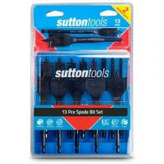 SUTTON 6-35mm Spade Bit Set - 13 Piece w. BONUS Bits