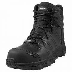 MACK Octane Zip-Up Safety Boots in Black MKOCTANEZBBF