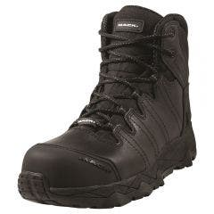 MACK Boot Octane Zip Safety Zip Side Unisex Black Size 10.5 MKOCTANEZBBF105