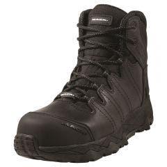 MACK Boot Octane Zip Safety Zip Side Unisex Black Size 12 MKOCTANEZBBF120