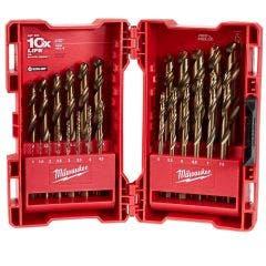 MILWAUKEE 1-13mm Metric HSS-Cobalt Jobber Drill Bit Set - RED HELIX - 25 Piece