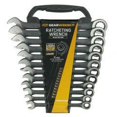 GEARWRENCH Limited Edition Black 12 Piece Metric Ratcheting Spanner Set 9412BE