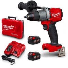 MILWAUKEE 18V 2 x 5.0Ah Fuel 13mm Hammer Drill/Driver Kit M18FPD2502C