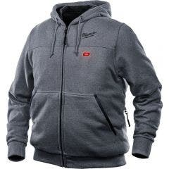 MILWAUKEE 12V Heated Jumper Hoodie Grey Skin M12HHGREY90
