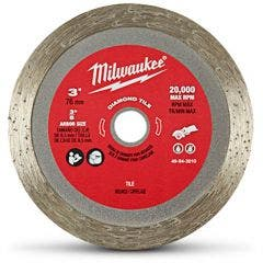 MILWAUKEE 75mm Continuous Rim Diamond Blade for Ceramic Cutting