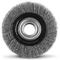 DETROIT 150 x 32mm Multi-Bore Steel Crimped Wire Wheel Brush