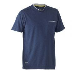 BISLEY Flex & Move Cotton V Neck Tee Blue BK1933SBLUE