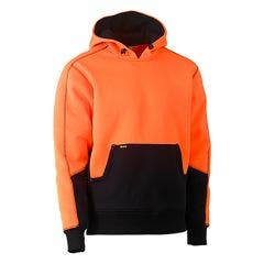 BISLEY Hi Vis 2 Tone Fleece Pullover Hoodie Orange/Navy BK6619ORGNVY