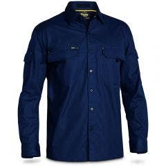BISLEY X Airflow Ripstop Work Shirt Navy BS6414SNAVY