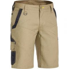 BISLEY Flex & Move Stretch Short Khaki BSHC113077REGKHAKI