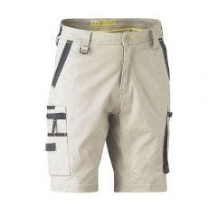 BISLEY Flex & Move Stretch Utility Zip Cargo Short Stone BSHC133077RSTN