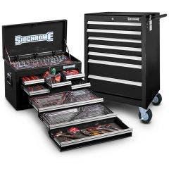 SIDCHROME 262pc MET/AF Tool Kit - Black SCMT10159B