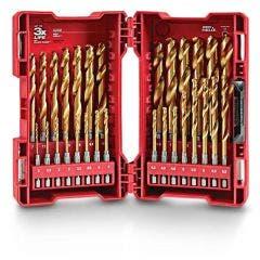 MILWAUKEE 2-13mm 1/4-Hex Metric Jobber Drill Bit Set - RED-HELIX - 29 Piece 48894862