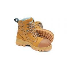 BLUNDSTONE Womens Zipside Wheat Safety Boots Size 5 892050