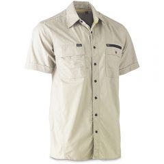 BISLEY Flex & Move Utility Short Sleeve Shirt Stone BS1144STNS