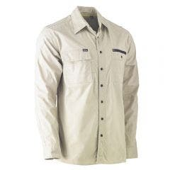 BISLEY Flex & Move Utility Long Sleeve Shirt Stone BS6144STNS
