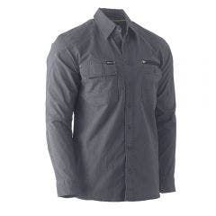 BISLEY Flex & Move Utility Long Sleeve Shirt Charcoal BS6144CHARS