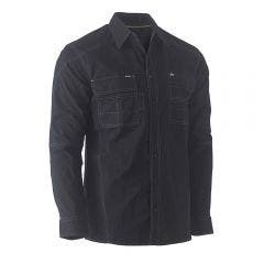 BISLEY Flex & Move Utility Long Sleeve Shirt Black BS6144BLKS
