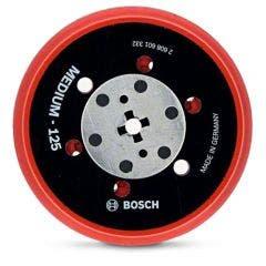 BOSCH 125mm Medium Hook & Loop Random Orbital Sander Backing Pad - Suits Various Brands