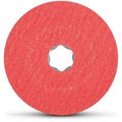 PFERD 125mm Mixed-Grit Ceramic Fibre Disc - COMBICLICK - 5 Piece