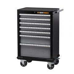 GEARWRENCH 26inch 7 Drawer Roller Cabinet XL Series - Black/Silver 83155N