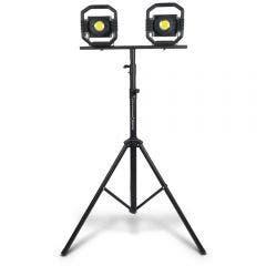 DETROIT 2 x 30W Rechargeable LED Worklight w. 3.0m Tripod Kit TTKIT715