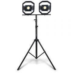 DETROIT 2 x 50W Rechargeable LED Worklight w. 3.0m Tripod Kit TTKIT719