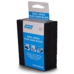NORTON Medium/Fine Foam Angled Hand Sanding Block - FLEXI SAND
