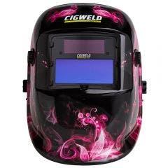 CIGWELD WeldSkill Auto Darkening Welding Helmet Pink Lady 454336