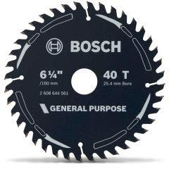 BOSCH 160mm 40T TCT Circular Saw Blade for Wood Cutting - GENERAL PURPOSE