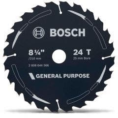 BOSCH 210mm 24T TCT Circular Saw Blade for Wood Cutting - GENERAL PURPOSE