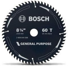 BOSCH 210mm 60T TCT Circular Saw Blade for Wood Cutting - GENERAL PURPOSE