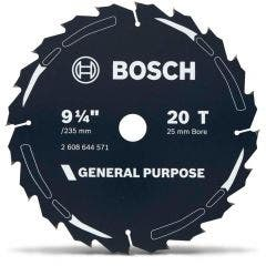 BOSCH 235mm 20T TCT Circular Saw Blade for Wood Cutting - GENERAL PURPOSE
