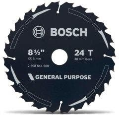 BOSCH 216mm 24T TCT Circular Saw Blade for Wood Cutting - GENERAL PURPOSE
