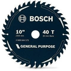 BOSCH 254mm 40T TCT Circular Saw Blade for Wood Cutting - GENERAL PURPOSE
