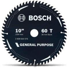 BOSCH 254mm 60T TCT Circular Saw Blade for Wood Cutting - GENERAL PURPOSE